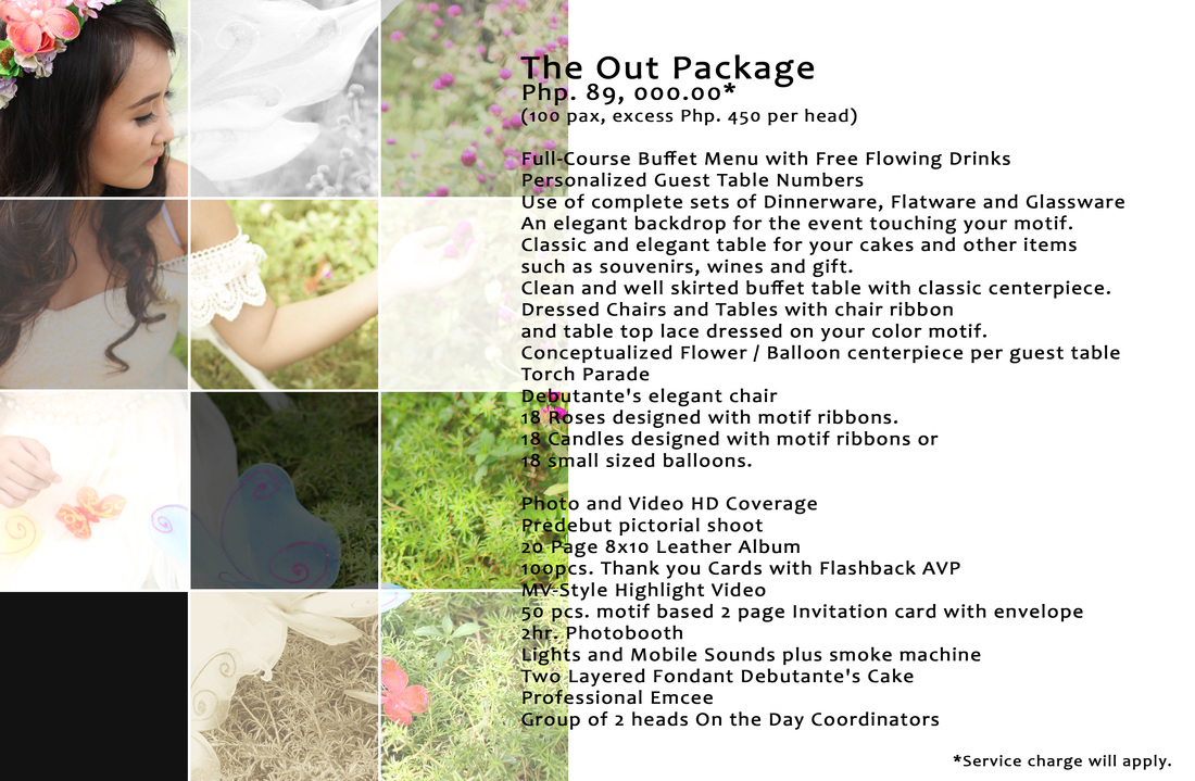 Debut Packages Partyoutloud Events